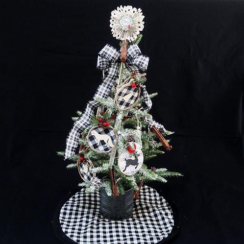 Tree with Farmhouse Ornaments