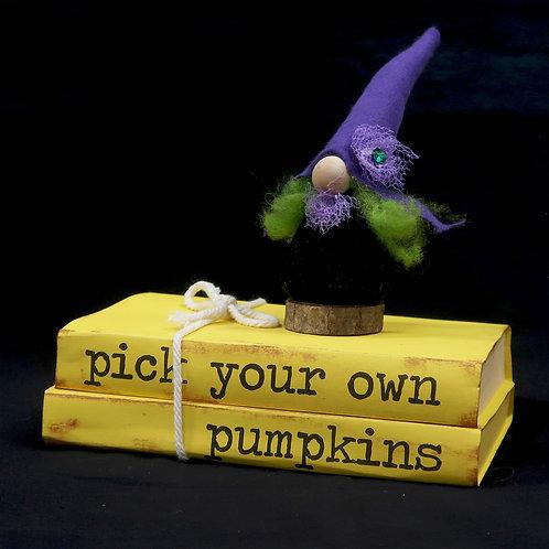 Book Stack Pumpkins