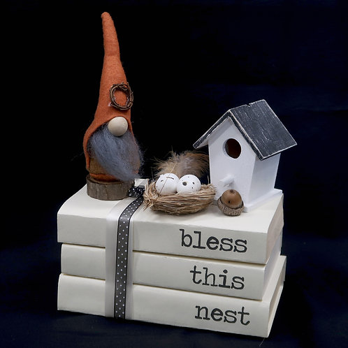 Book Stack Bless This Nest