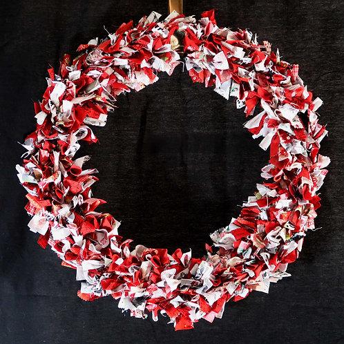 Fabric Wreath, Rag