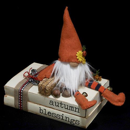 Book Stack Autumn Blessings Orange