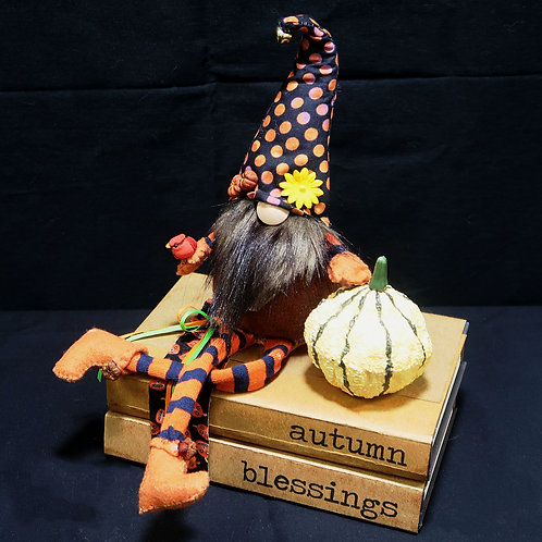 Book Stack Autumn Blessings Dots & Stripes