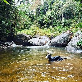 Bom dia alegria e muito banho de rio! Es