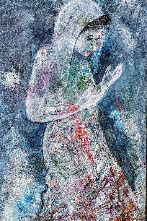 Woman in Prayer 12 X16