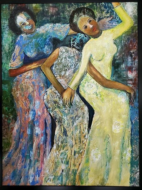 The Three  African Graces 24X36 inc