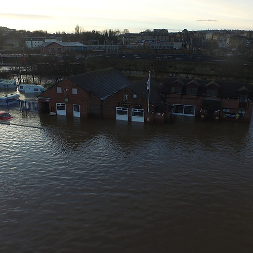 Photographs taken the day after the main flood