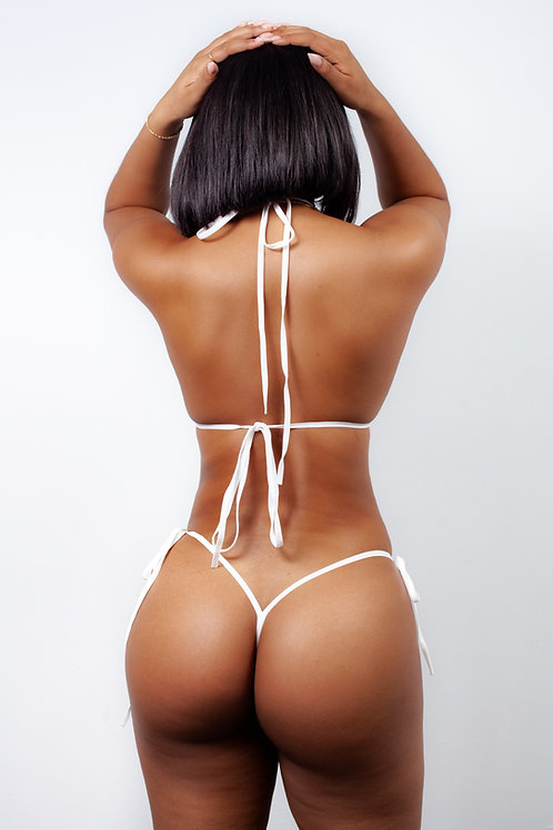 WHITE MESH - thong bottoms
