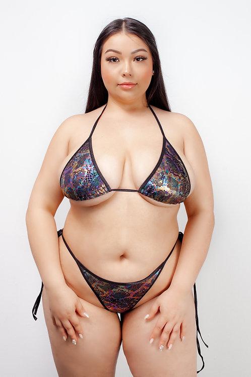 BLACK CHEMICAL REACTION - bikini tops