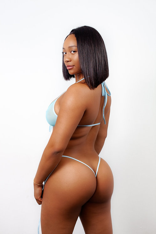 BABY BLUE MESH - thong bottoms