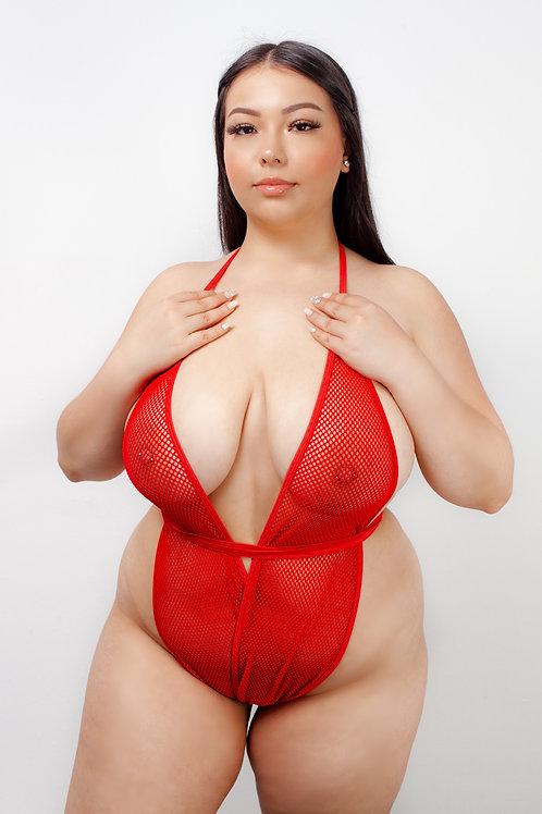RED MESH - kitten wrap