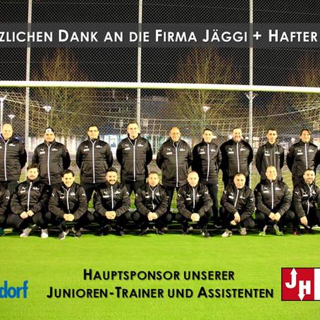 Jäggi + Hafter AG - Hauptsponsor unserer Junioren-Trainer und Assistenten