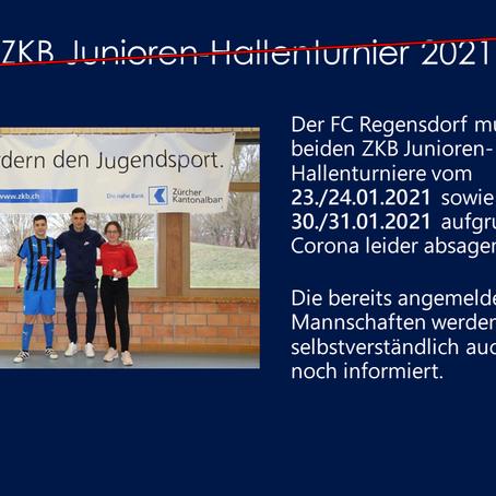 Absage der ZKB Junioren-Hallenturniere