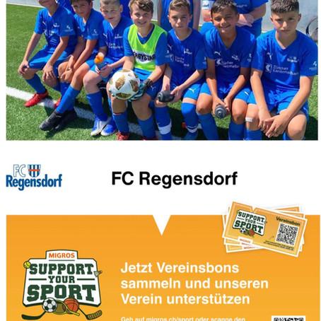 «Support your Sport»  - der FC Regensdorf ist auch mit dabei !
