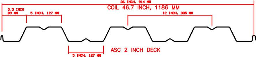 2 Inch Deck Floor Roof Profile