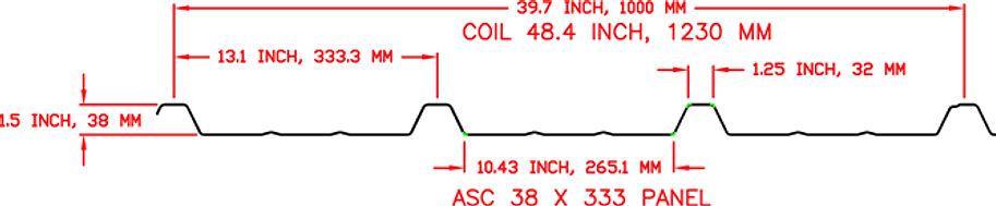 ASC 38 x 333 Panel Profile