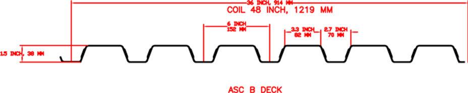 B Deck Roof Floor Decking