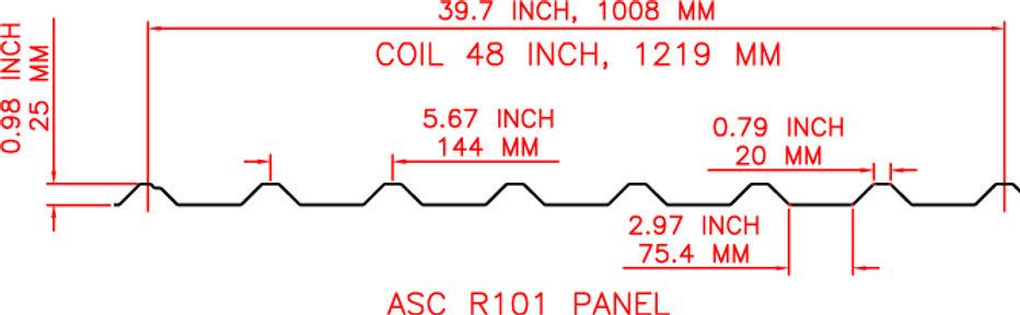 R 101 Panel Profile Rollformer