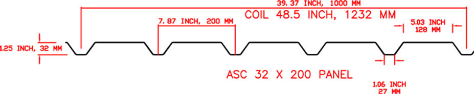ASC 32 x 200 Profile