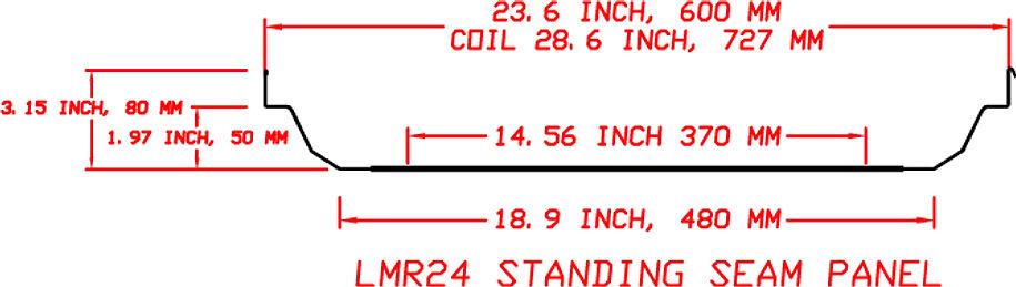 LMR 24 Standing Seam Profile