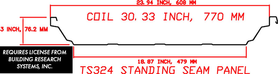 TS324 STANDING SEAM Panel Profile