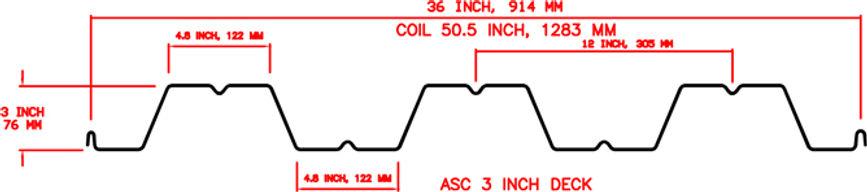 3 inch Deck Profile