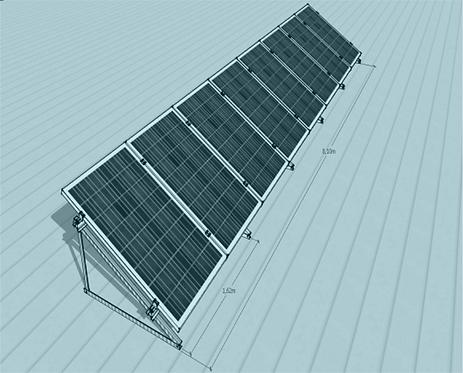 STS V TR -1/8 Üniversal Fotovoltaik Taşıyıcı Sehpa