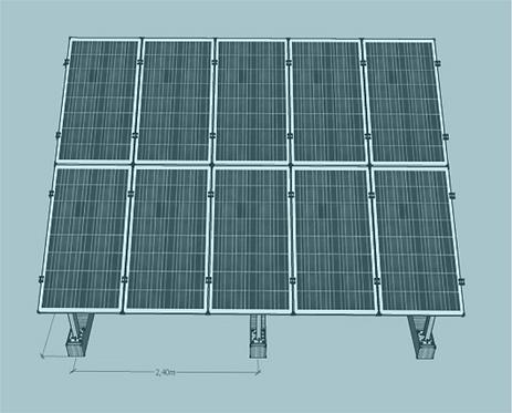 STS V TR -2/5 Üniversal Fotovoltaik Taşıyıcı Sehpa