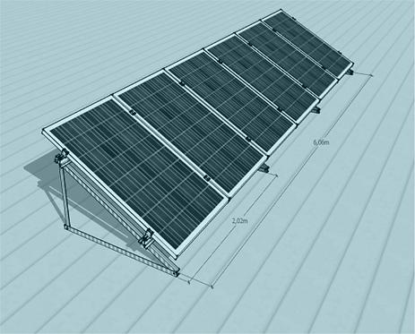 STS V TR -1/6 Üniversal Fotovoltaik Taşıyıcı Sehpa