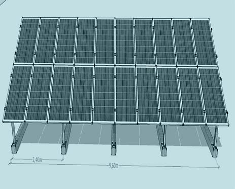 STS V TR -2/10 Üniversal Fotovoltaik Taşıyıcı Sehpa