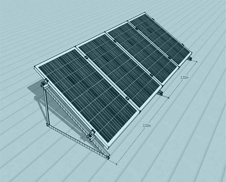 STS V TR -1/4 Üniversal Fotovoltaik Taşıyıcı Sehpa