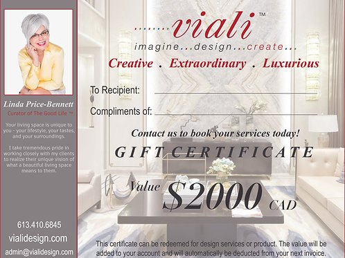 Viali Services Gift Certificate