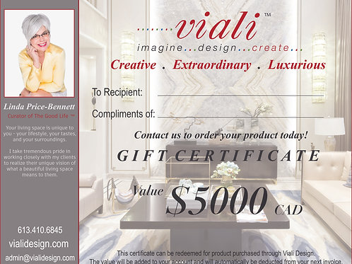 Viali Product Gift Certificate
