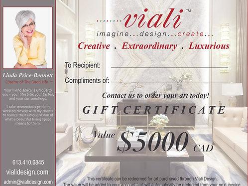 Viali Art Gift Certificate