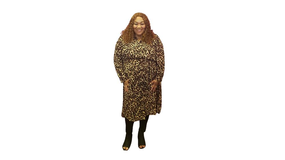 Roamans Cheetah Print Tunic