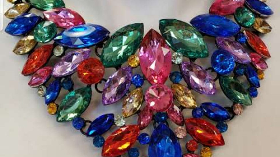 Multi- Color Statement Necklace
