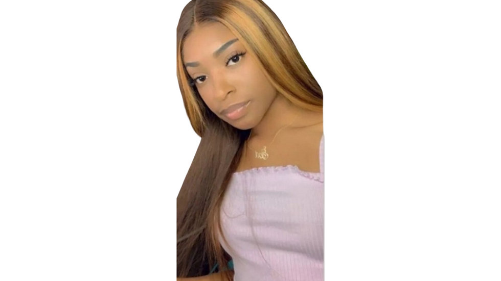 Bronze Straight  Synthetic Wig