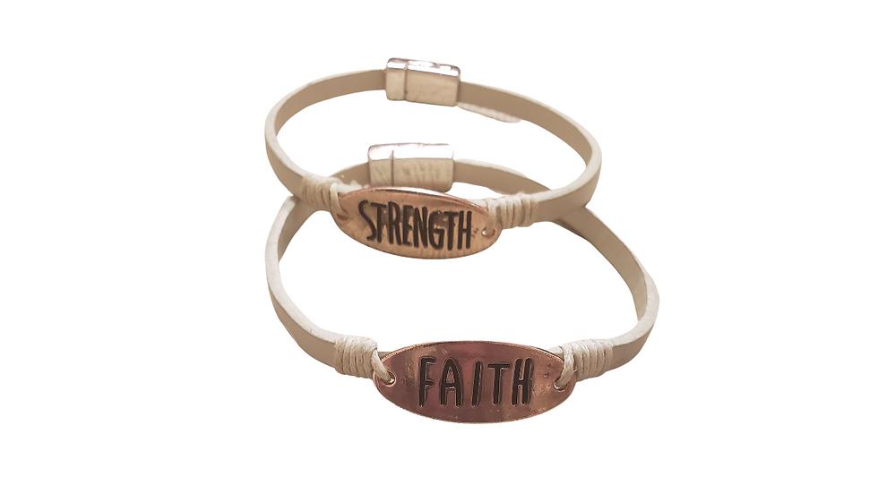Strength & Faith Bracelet Set