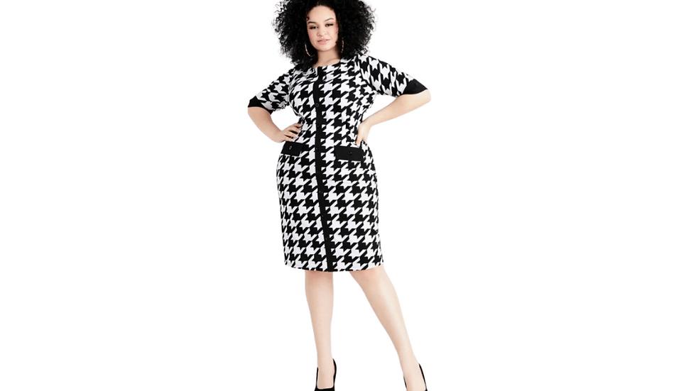 18/20 Ashley Stewart  Houndstooth Dress