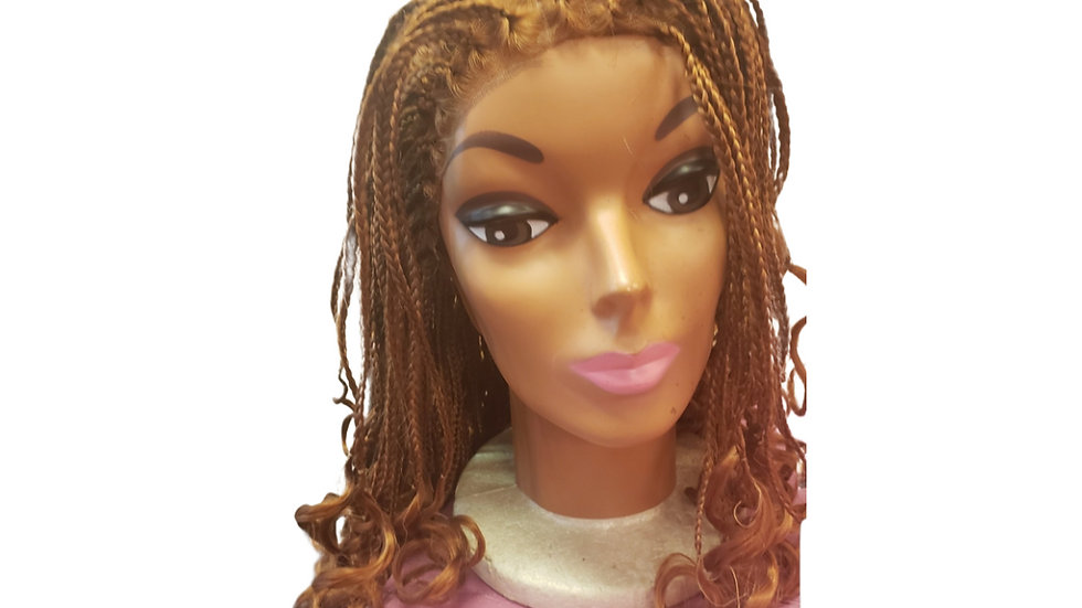 Braided Curly Synthetic Wig