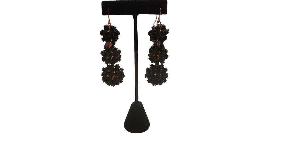 Chandelier Black Rose's Earrings