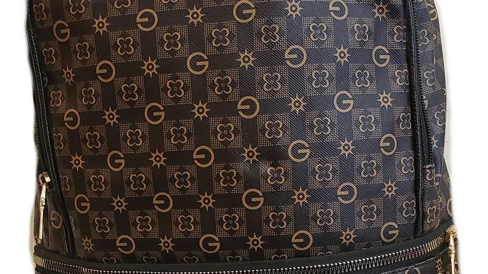 Brown Fashion Studded  Book Bag/ Purse