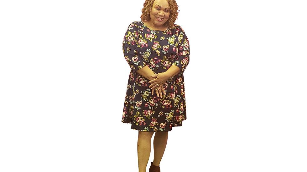 3X Bongo Plus  Floral Dress