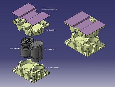 CAD Renderings of Eco Friendly Packaging