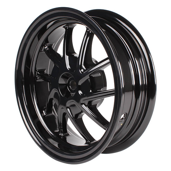 NCY Rear Wheel (Black, 10 Spoke); Honda Ruckus