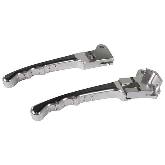NCY Folding Levers (Drum Type, Silver); Honda, Yamaha, Puch