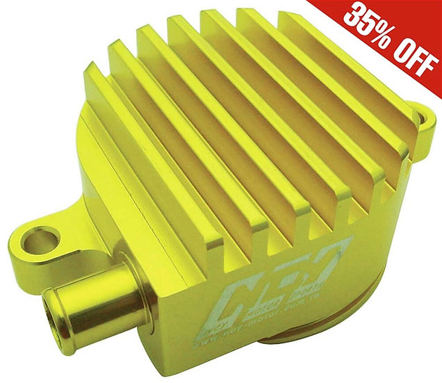 Billet High-flow Crank Breather (Gold) ; Yamaha Zuma 125 NCY