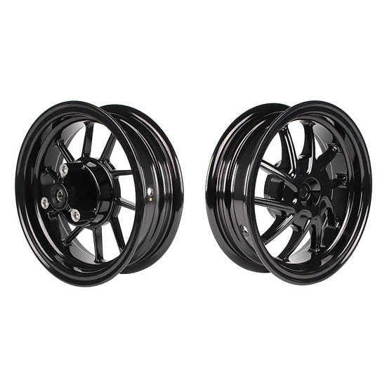 "NCY Ruckus Wheel Set (Black Ice, Hustler, 10""); Honda Ruckus"