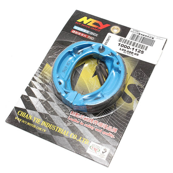 NCY Blue Brake Shoes (Drum) Honda Ruckus, Metropolitan