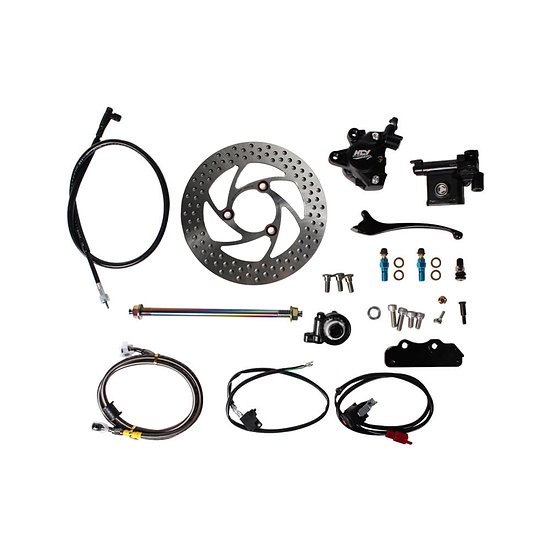 NCY Front End Disc Conversion Kit (Black Caliper); Ruckus