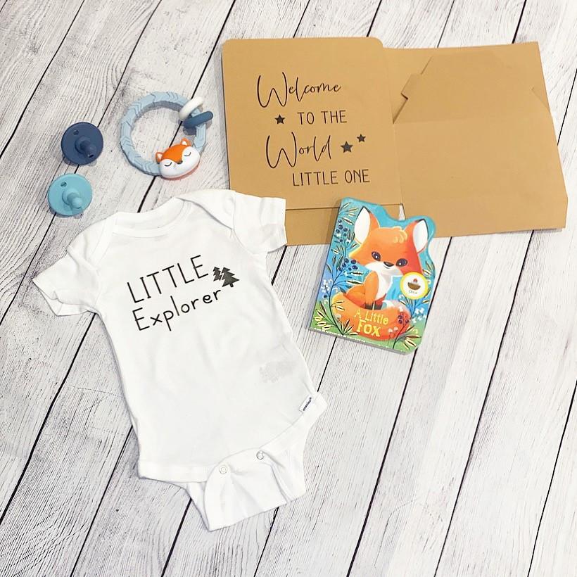Fox newborn gift box
